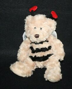 Ganz Sweet Bee Plush Stuffed Teddy Bear Beans Soft Lovey