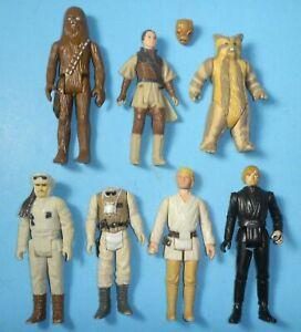 Lot-1977-1980s-Star-Wars-ROTJ-ESB-Chewbacca-Luke-Skywalker-Princess-Leia-Logray