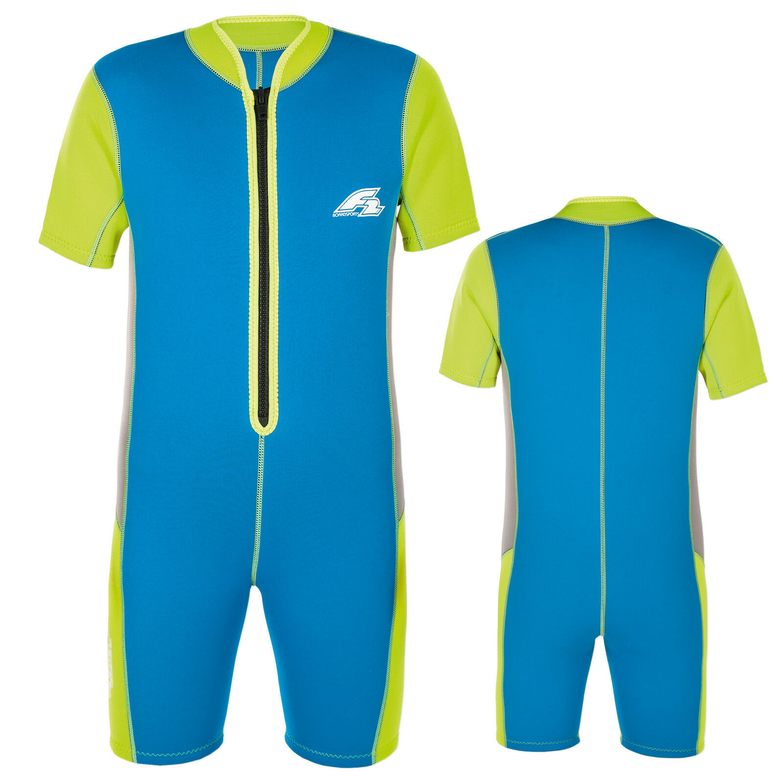 F2 Kids Wet Suit 2018  Kite Wake Neoprene Shorty for Kids  Approx. 12 Jahre