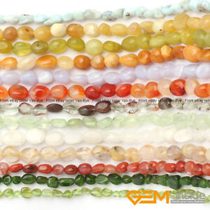 6x8mm-Assorted-Stones-Freeform-Nugget-Loose-Beads-For-Jewelry-Making-In-Bulk-15-034