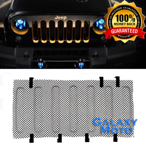 Bug Screen Mesh Stainless Grille Insert Cover Grill fit 07-17 Jeep Wrangler JK