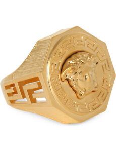 Versace-Octagonal-Greca-amp-Medusa-Ring-Colour-Gold-PRICE-DROP