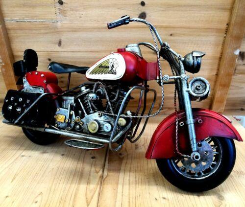 Bike Indian XXL ca 42 cm lang Motorrad rot Blech Deko Dekoration Modell