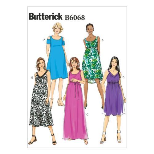 Uncut Butterick B6068 Maternity Dress Sewing Pattern Sizes UK 14-22 ...