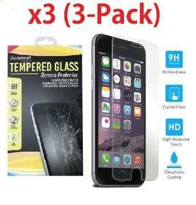 3 Pack Premium Real Screen Protector Tempered Glass Film For iPhone 6 6s 7 Plus