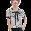 Nuevo-Mujeres-Manga-Corta-Poliester-Prendas-para-el-torso-Blusa-Prendas-para-el-torso-Camisa miniatura 2