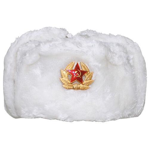 Russische Fellmütze Uschanka XS-XXL Pelzmütze Schapka Armee Wintermütze Russland