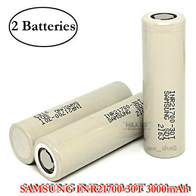 2x Samsung INR21700-30T Rechargeable High Drain Vape Battery 3000mAh SMOK  Mods 717356046391 | eBay