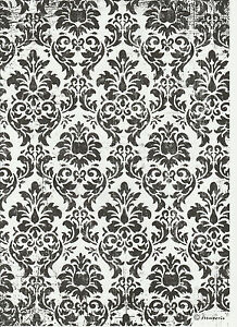 Rice Paper for Decoupage Decopatch Scrapbook Craft Sheet Black /& White Wallpaper