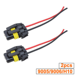 2x Universal 9005 9006 H10 Adapter Wiring Harness Socket for ...