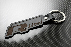 Image is loading VW-R-Line-Leather-Keyring-Keychain-Schlusselring-Porte- 6fefbf263083
