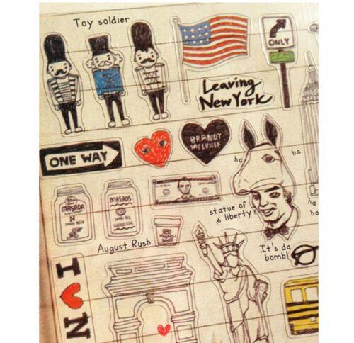 New York USA Vacaciones Viajes Pegatina de PVC Arte Artesanía Hazlo tú mismo Diario De Tarjeta Scrapbooking