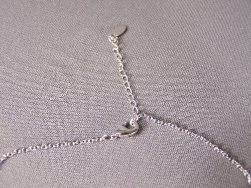 "Silver tone clear crystal Eiffel Tower 16/"" long necklace Paris France pendant"
