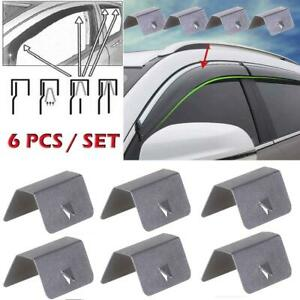 6X Wind / Rain Deflector Car Channel Metal Retaining Clips For Heko G3 Clip New