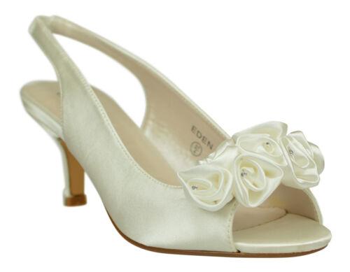 bianche donna da tacco damigella Scarpe scarpe con scarpe basso sera da d'onore cerimonia da OCwqxaqp
