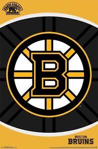 DéVoué Boston Bruins~ Ovale Logo 22x34 Affiche Nhl National Hockey Ligue Neuf/roulée ! Prix De Vente Directe D'Usine