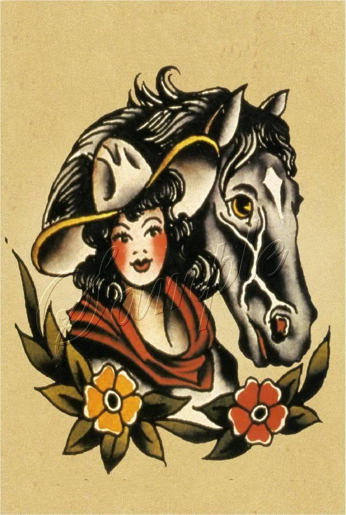 COWGIRL PIN-UP HORSE EQUESTRIAN HORSEBACK  WESTERN WEAR VINTAGE CANVAS PRINT