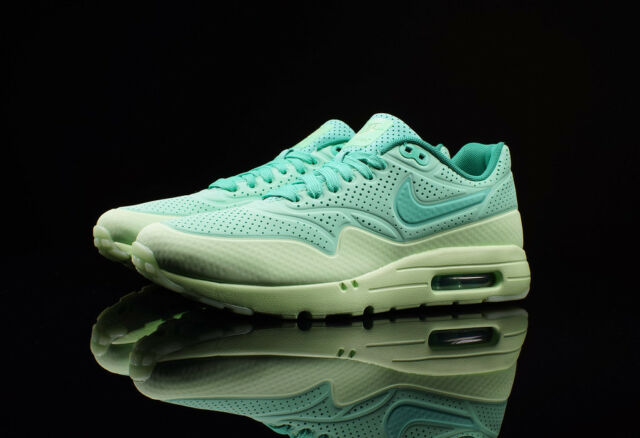 online store f2210 18733 Nike Air Max 1 Ultra Moire Mens 705297-300 Green Glow Running Shoes Size 8