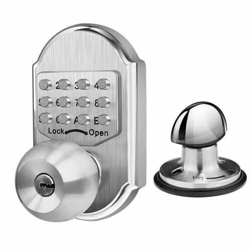 US Keyless Mechanical Digital Code Keypad Password Entry Door Lock Knob Deadbolt