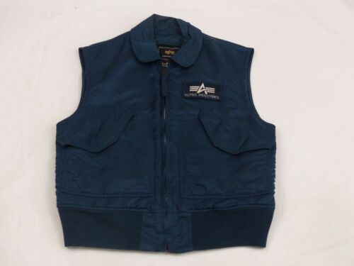 alpha bomber Industries Vest Jacket Equipment Blau Blue Vintage GR S Tip Top