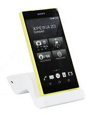 Schlanke Gebogen Premium Docking Station Ladegerät Sony Xperia Z5 Compact - Weiß