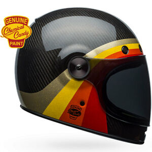 91576f65 Image is loading Bell-Bullitt-Carbon-Chemical-Candy-Black-Gold-Retro-