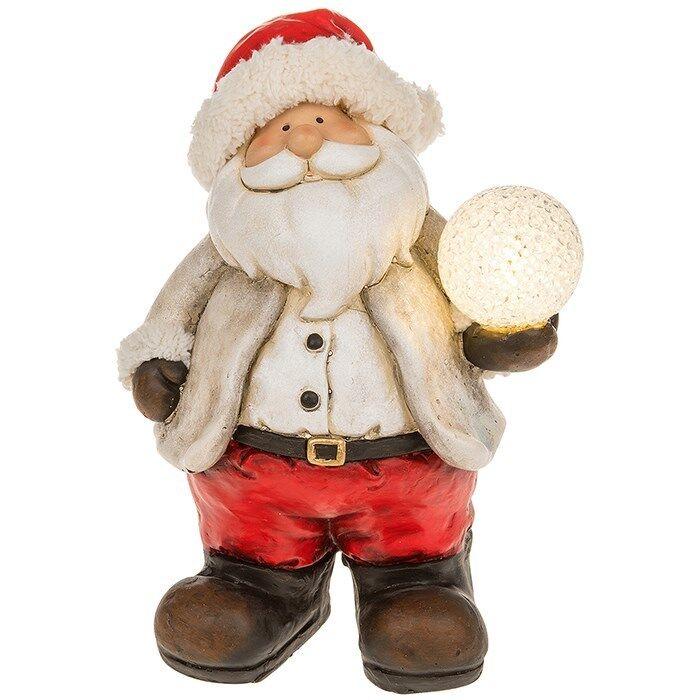 GRANDE GRANDE GRANDE Babbo Natale LED Holding illuminato palla di neve Babbo Natale Figura Ornamento 32 cm 89f11c
