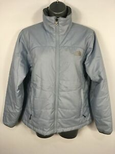 WOMENS-THE-NORTH-FACE-PASTEL-BLUE-ZIP-UP-LIGHTLY-PADDED-LINER-JACKET-COAT-SMALL