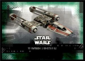 2019 Topps Star Wars Rise Of Skywalker Green 53 Y Wing Fighter Ebay