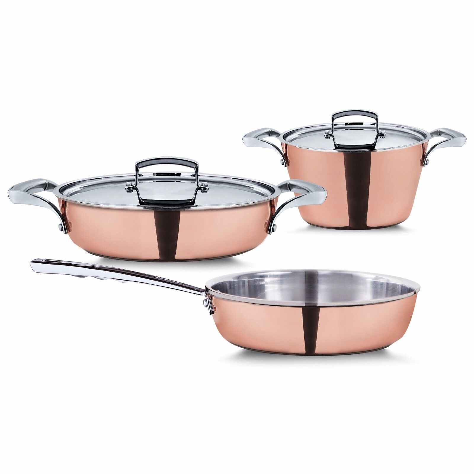 New. Pensofal Reserve Cookware Set, 5 Piece, Copper . made in