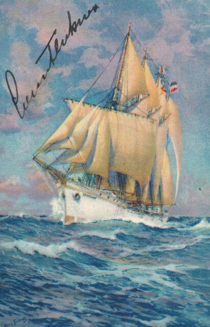 Count Felix von Luckner - Signature of the German Naval Officer