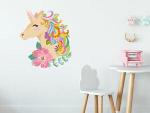 Details Zu Wandtattoo Kinderzimmer Poster Einhorn Unicorn Pferdewandtattoo Fur Madchen