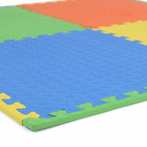 Soft-Eva-Foam-Interlocking-Crash-Mats-Floor-Kids-Play-Garage-Gym-Exercise-Office