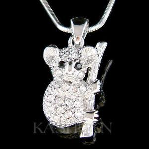 0d535cd5484e Image is loading KOALA-Bear-made-with-Swarovski-Crystal-Australia-Aussie-