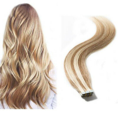 """Best New Tape In Thick Remy Human Hair Extensions Thick Full Head 12/""""-24/"""" US3453"""