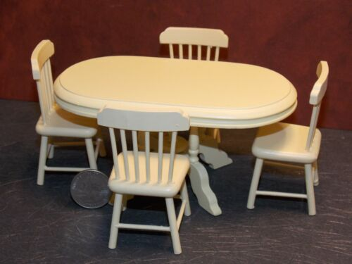 Dollhouse Miniature Kitchen Dining Table Chairs 1:12 scale K35 Dollys Gallery