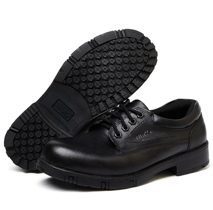 Men Chef shoes Genuine Leather Lace Kitchen Cook Work Safety Oil-proof Non slip