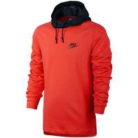 Nike Av15 Fleece Jersey Hoodie 2017 Hooded Top Soccer Brand Red / Black