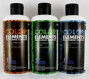 Ensemble Ultra Color Elements 3 X 250ml Dans Fauna Marin Trace Elements 65.33 € / l