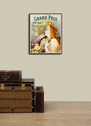 Paris Grand Prix Flowers Expo 1900 Vintage Style Ad Poster 24x30