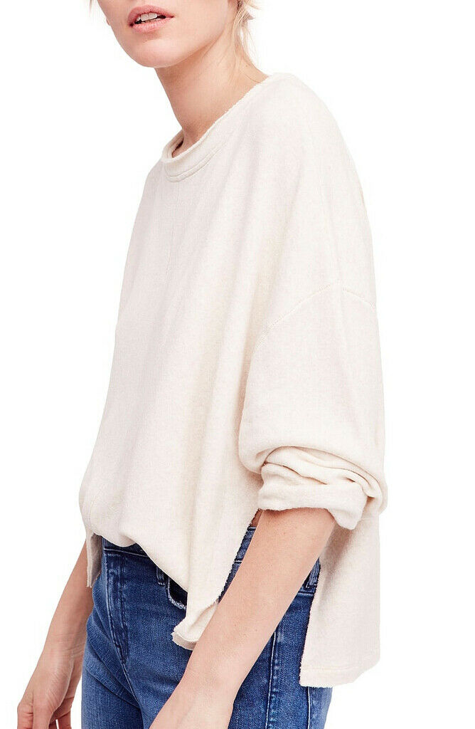 Free People Womens Be Be Be Good Terry OB828174 Sweater Oatmeal Beige Size XS d1467c