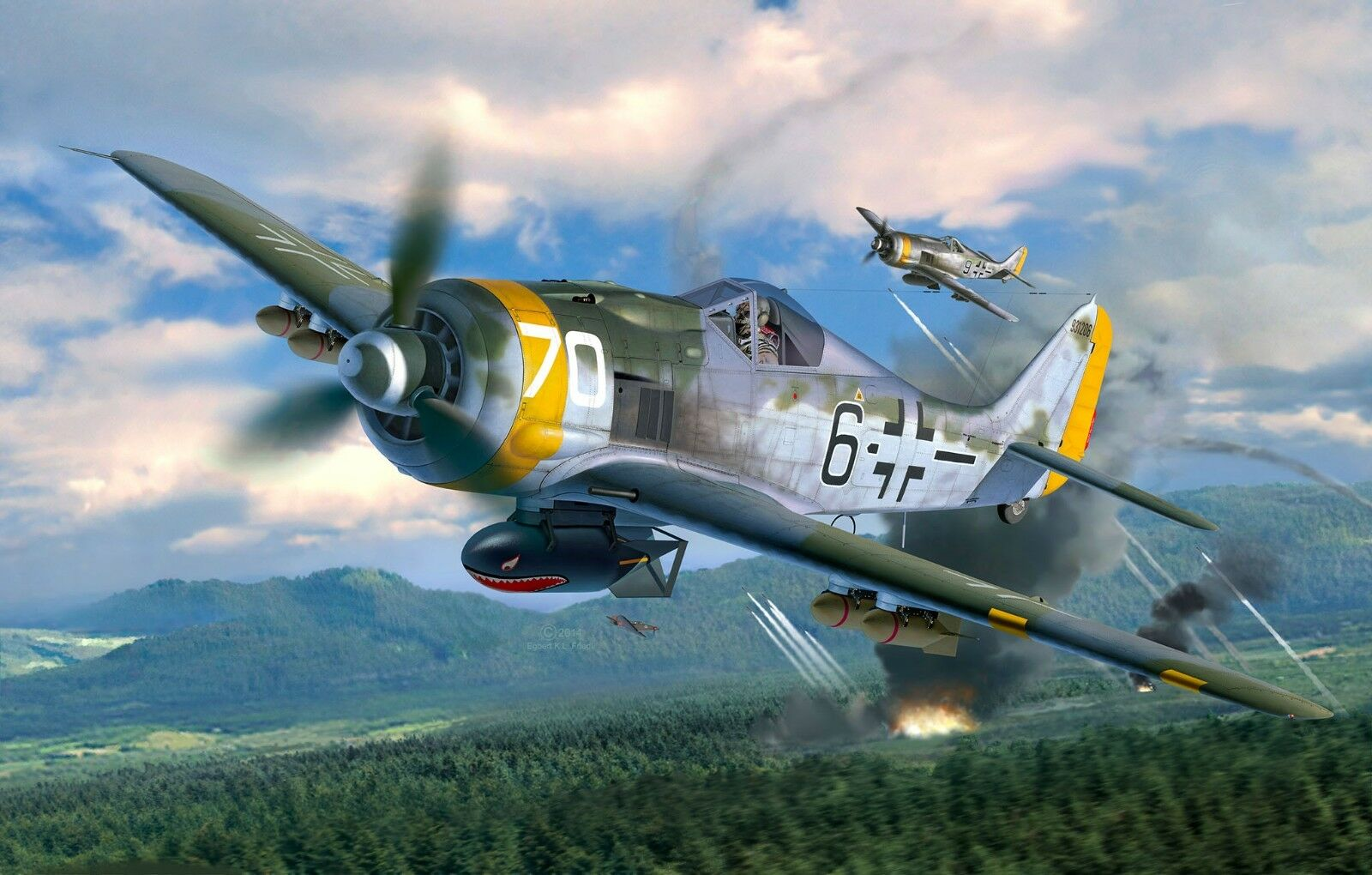 Revell 04869 Focke Wulf Fw 190F-8 Kit de Plástico 1 32 Escala con Rastreo 48