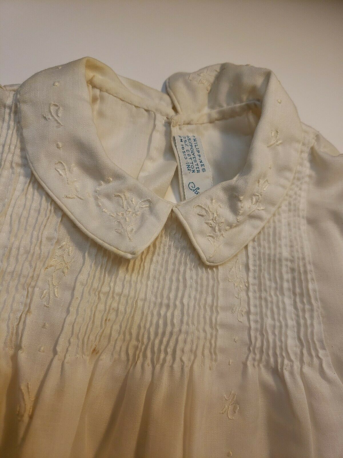 VINTAGE 1960s BABY GIRL'S EMBROIDERED DRESS lot o… - image 8