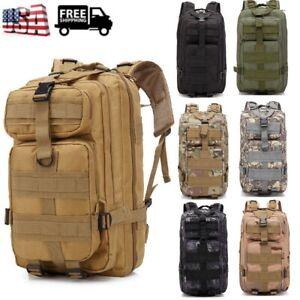Waterproof Outdoor Tactical Backpack Hiking Travel Rucksack Bag Durable 25L