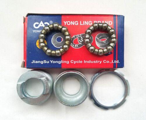 Yong Ling 3-Piece 3PC Bottom Bracket Cup Set 68//73mm