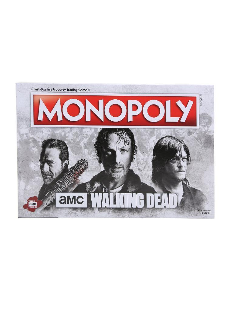New In Box AMC The Walking Dead Edition Monopoly Board Game Hot Topic USAopoly