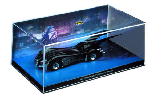 1997 Batmobile Batman and Robin Movie en 1:43 Ixo Altaya stand modelo Batmóvil