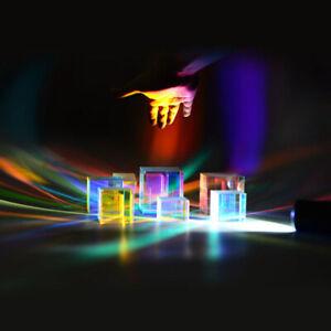 2 pezzi visivamente VETRO PRISMA difettose cubo dichroitischer dichroic cubo