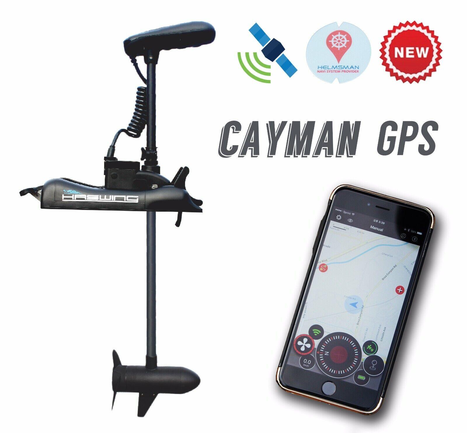 HASWING Caimán GPS 55LB 48  Eje Trolling Motor rocord ruta, bloqueo De Ancla + R