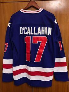 Jack O'Callahan #17 1980 Miracle On Ice USA Hockey Jersey Blue S M L XL XXL XXXL